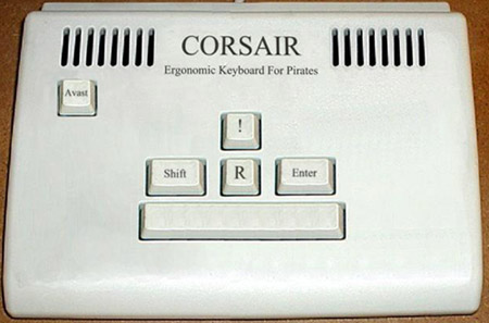 Ergonomic keyboard for pirates